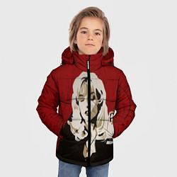 Куртка зимняя для мальчика Лора Палмер цвета 3D-черный — фото 2