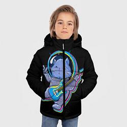 Куртка зимняя для мальчика Космокот цвета 3D-черный — фото 2