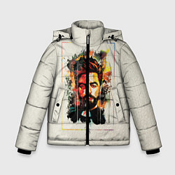 Куртка зимняя для мальчика Прововедник: фан-арт цвета 3D-черный — фото 1