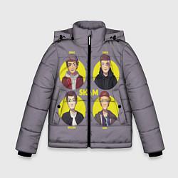 Куртка зимняя для мальчика Skam Faces цвета 3D-черный — фото 1