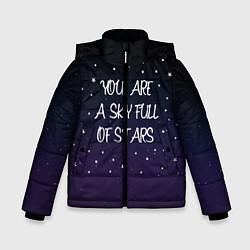 Куртка зимняя для мальчика Coldplay: Night Sky цвета 3D-черный — фото 1