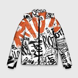 Куртка зимняя для мальчика Paramore: Riot цвета 3D-черный — фото 1