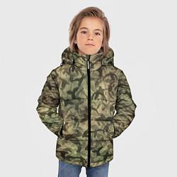 Куртка зимняя для мальчика Камуфляж с утками цвета 3D-черный — фото 2