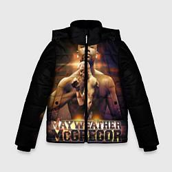 Детская зимняя куртка для мальчика с принтом Mayweather vs McGregor, цвет: 3D-черный, артикул: 10132247306063 — фото 1