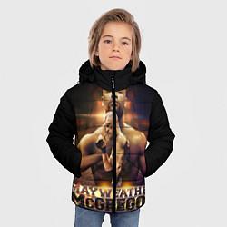 Куртка зимняя для мальчика Mayweather vs McGregor цвета 3D-черный — фото 2