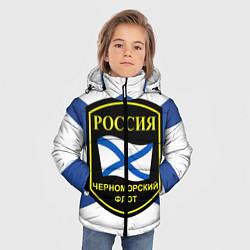 Куртка зимняя для мальчика Черноморский флот цвета 3D-черный — фото 2
