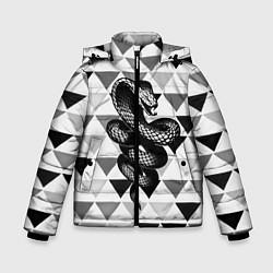 Куртка зимняя для мальчика Snake Geometric цвета 3D-черный — фото 1