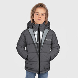 Куртка зимняя для мальчика Костюм цвета 3D-черный — фото 2
