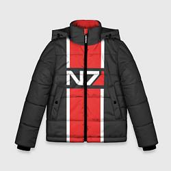 Куртка зимняя для мальчика Mass Effect: N7 цвета 3D-черный — фото 1