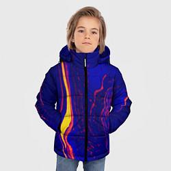 Детская зимняя куртка для мальчика с принтом Ультрафиолетовые разводы, цвет: 3D-черный, артикул: 10134103706063 — фото 2