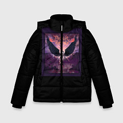 Детская зимняя куртка для мальчика с принтом Dethklok: Angel, цвет: 3D-черный, артикул: 10134390106063 — фото 1