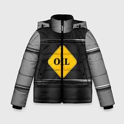 Куртка зимняя для мальчика Oil цвета 3D-черный — фото 1