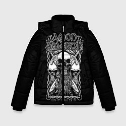 Куртка зимняя для мальчика Amon Amarth: Trio Skulls цвета 3D-черный — фото 1
