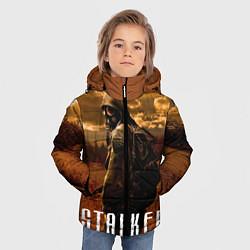 Куртка зимняя для мальчика STALKER: Radiation цвета 3D-черный — фото 2