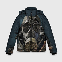 Куртка зимняя для мальчика STALKER: Mask цвета 3D-черный — фото 1
