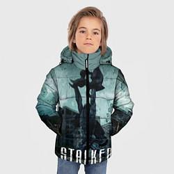 Детская зимняя куртка для мальчика с принтом STALKER: Pripyat, цвет: 3D-черный, артикул: 10135205506063 — фото 2