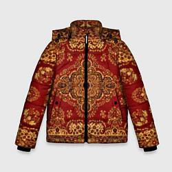 Куртка зимняя для мальчика Человек-ковер цвета 3D-черный — фото 1