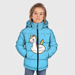 Куртка зимняя для мальчика Единорог цвета 3D-черный — фото 2