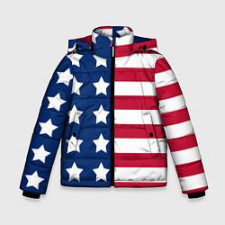 Куртка зимняя для мальчика USA Flag цвета 3D-черный — фото 1