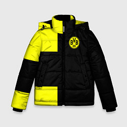 Куртка зимняя для мальчика BVB FC: Black style цвета 3D-черный — фото 1