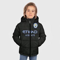Детская зимняя куртка для мальчика с принтом Man City FC: Black 17/18, цвет: 3D-черный, артикул: 10137896506063 — фото 2