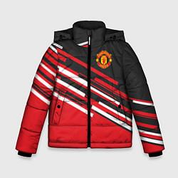 Куртка зимняя для мальчика Man UTD FC: Sport Line 2018 цвета 3D-черный — фото 1