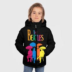 Куртка зимняя для мальчика The Beatles: Colour Rain цвета 3D-черный — фото 2