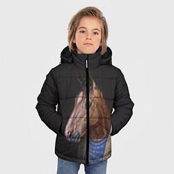 Куртка зимняя для мальчика BoJack цвета 3D-черный — фото 2