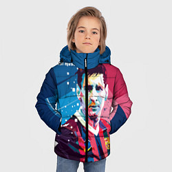 Куртка зимняя для мальчика Lionel Messi цвета 3D-черный — фото 2