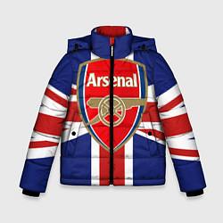Куртка зимняя для мальчика FC Arsenal: England цвета 3D-черный — фото 1