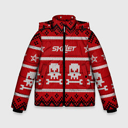 Куртка зимняя для мальчика Skillet: New Year цвета 3D-черный — фото 1