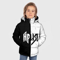 Куртка зимняя для мальчика Ария Ч/Б цвета 3D-черный — фото 2
