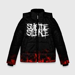 Куртка зимняя для мальчика Suicide Silence: Red Flame цвета 3D-черный — фото 1