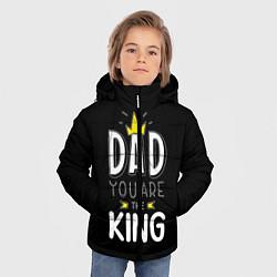 Куртка зимняя для мальчика Dad you are the King цвета 3D-черный — фото 2