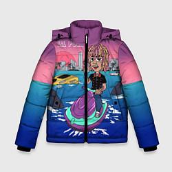 Куртка зимняя для мальчика Lil Pump on the water цвета 3D-черный — фото 1
