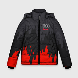 Куртка зимняя для мальчика Audi: Tricolor цвета 3D-черный — фото 1