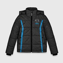 Детская зимняя куртка для мальчика с принтом MAZDA SPORT, цвет: 3D-черный, артикул: 10146442906063 — фото 1