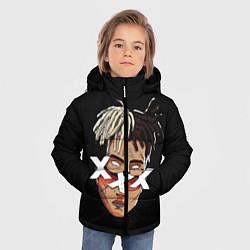 Куртка зимняя для мальчика XXXTentacion Head цвета 3D-черный — фото 2