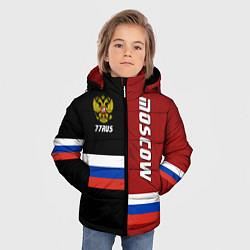 Детская зимняя куртка для мальчика с принтом Moscow, Russia, цвет: 3D-черный, артикул: 10147290706063 — фото 2
