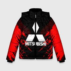 Куртка зимняя для мальчика Mitsubishi: Red Anger цвета 3D-черный — фото 1