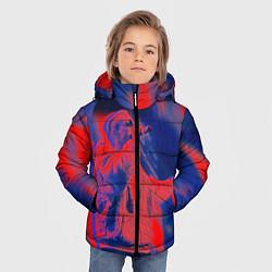 Детская зимняя куртка для мальчика с принтом T-Fest: Neon Style, цвет: 3D-черный, артикул: 10147367706063 — фото 2
