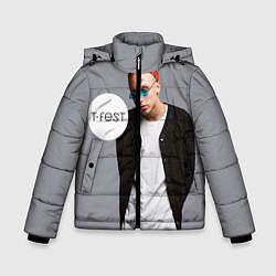 Куртка зимняя для мальчика T-Fest: Grey Style цвета 3D-черный — фото 1