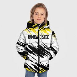 Куртка зимняя для мальчика Rainbow Six Siege: Yellow цвета 3D-черный — фото 2
