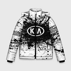 Куртка зимняя для мальчика KIA: Black Spray цвета 3D-черный — фото 1