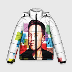 Куртка зимняя для мальчика Илон Маск цвета 3D-черный — фото 1