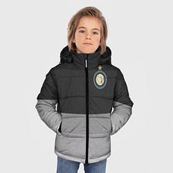 Детская зимняя куртка для мальчика с принтом ФК Интер: Серый стиль, цвет: 3D-черный, артикул: 10148313906063 — фото 2