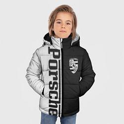 Куртка зимняя для мальчика Porsche W&B цвета 3D-черный — фото 2