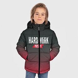 Куртка зимняя для мальчика Hard Work Pays Off: Red цвета 3D-черный — фото 2