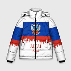 Куртка зимняя для мальчика Altai: Russia цвета 3D-черный — фото 1