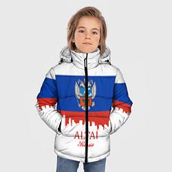 Куртка зимняя для мальчика Altai: Russia цвета 3D-черный — фото 2